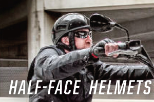 Discounted half face powersports helmets